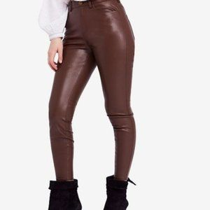 Free People NWT Vegan Leather Skinny Pants